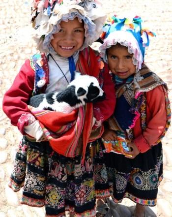 Crianças em Pisac