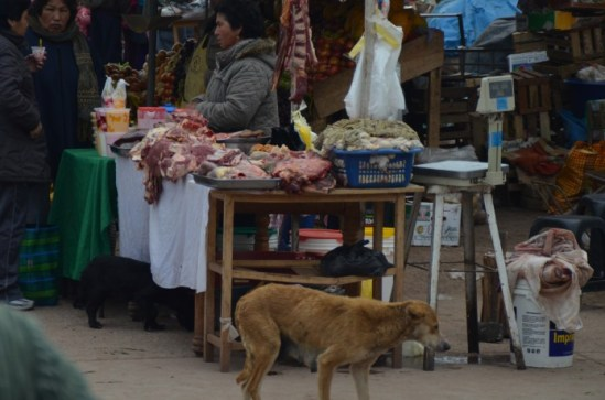 Mercado de rua de Macchu Picchu