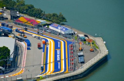 Pista corrida de F1 em Singapura