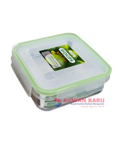 KOMAX S2 Kotak Makan Lunch Box Square Container