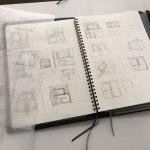新潟の家-ラフプラン検討(住宅設計ラフスケッチ)
