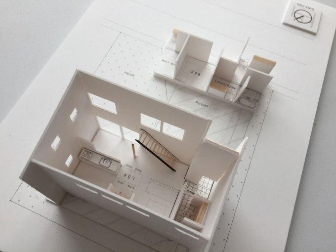 住宅模型 鉄骨階段