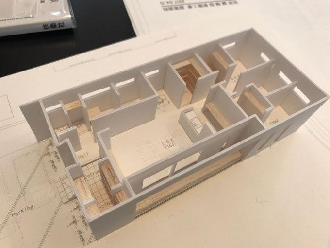 人吉の家 模型
