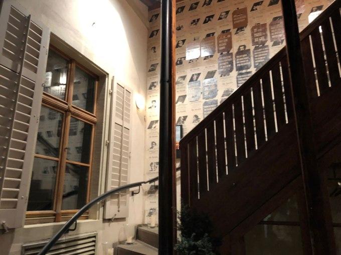 トイフェルホフホテルの階段