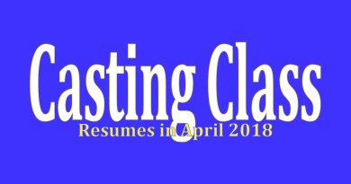 Despite what the image says, Casting Class resumes in March 2018