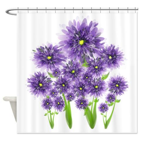pretty purple flowers shower curtain kawelamolokai com