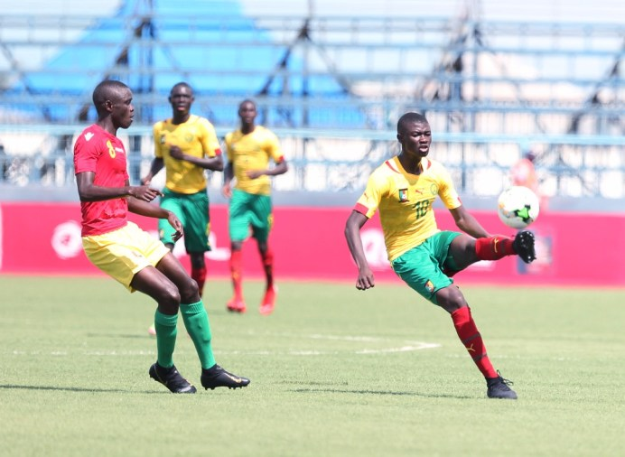 Cameroon edge Guinea in all West Africa contest #Uganda Cameroon Guinea action