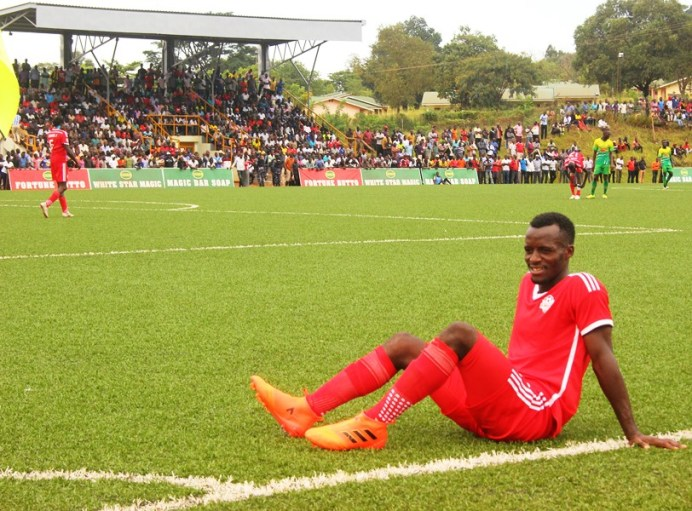 Wounded Kirinya-Jinja takes on already relegated Paidha Black Angels #Uganda Douglas Muganga looks on in disappointment