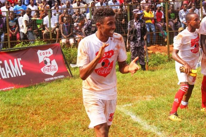 Standard High School Zana completes Wakiso trio to the Copa 2019 semi-finals #Uganda Abdallah Salim celebrates