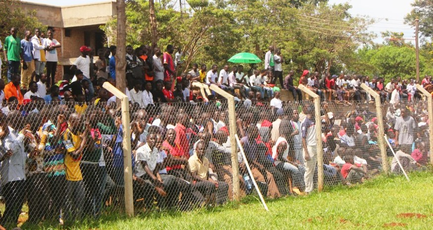 Jinja community wholesomely embraces the enticing copa 2019 football championship #Uganda Fans at Mighty Arena