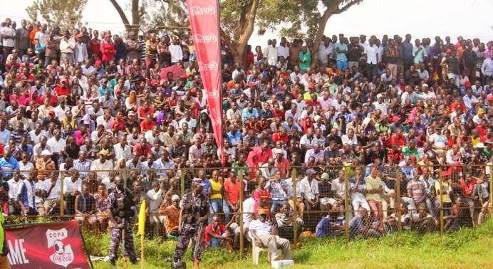 The passionate crowd to push the home team all the way #Uganda Kakindu Stadium crowd