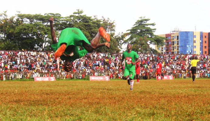 Jinja duo JIPRA, Jinja SS advance to COPA 2019 quarterfinals #Uganda Lawrence Enzo Tezikya celebrates the second goal for Jinja SS against St Julian High School