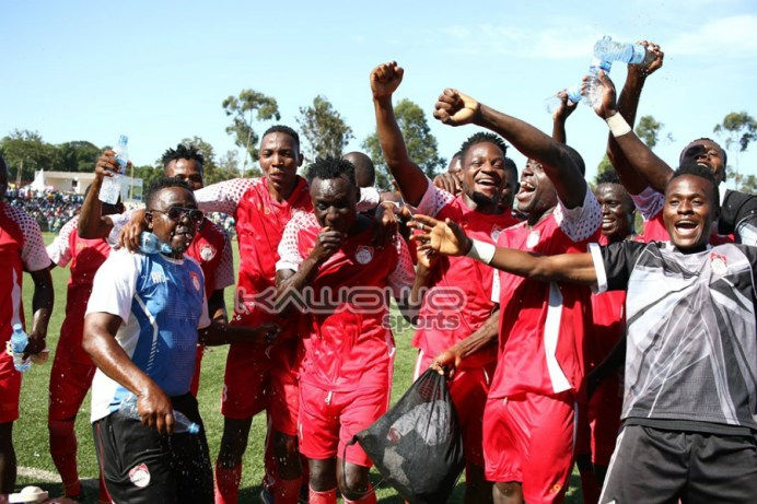 The Slaughters promoted to the Uganda Premier League #Uganda jb kyetume players celebrate