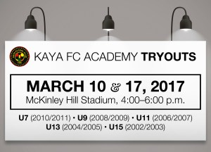 Kaya FC Academy Updates: March 13–19