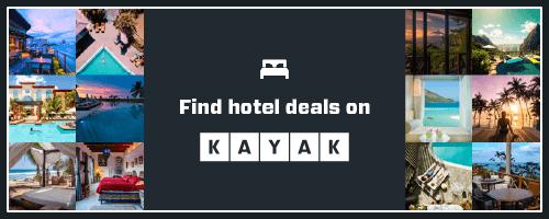 Find hotel deals on Kayak