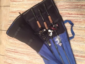 Lindy rod bag protects your reels.