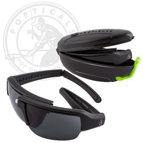 Popticals sunglasses are high-performance lenses which fold down to a compact case. Photo courtesy of Popticals.