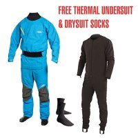 Yak Vanguard Whitewater / Kayak Drysuit + Underfleece - BLUE 2734