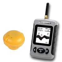 LeaningTech JL718 Portable Wireless Sonar Smart Fish Finder, with Dot Matrix 40m Range, Black