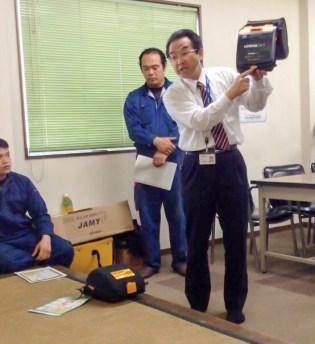 CSR活動 労働安全衛生 AED講習-1