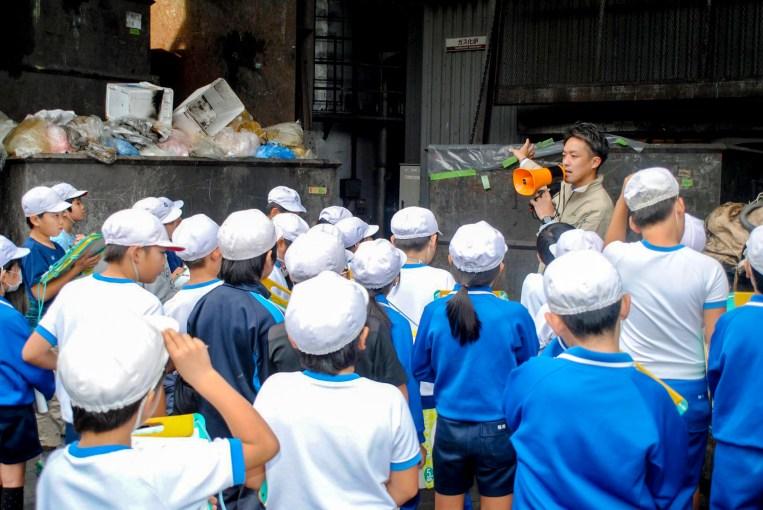豊川市立東部小学校 産業廃棄物処理 工場見学