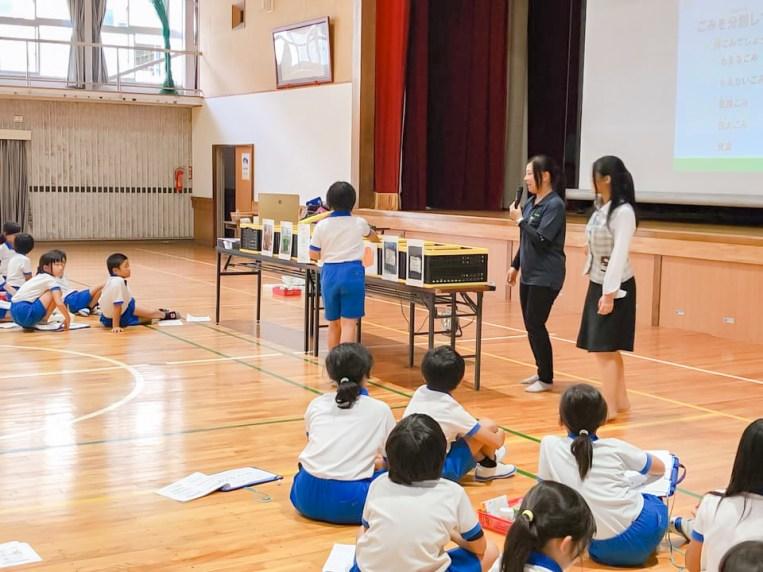 愛知県 豊川市 桜木小学校 CSR活動 環境授業 パッカー車