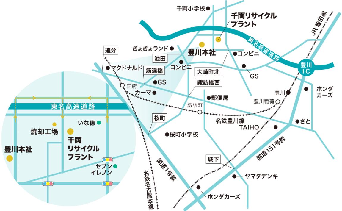 産業廃棄物処理 建物解体 加山興業 周辺地図