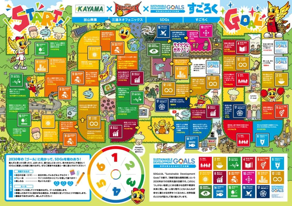 三遠ネオフェニックス SDGsすごろく