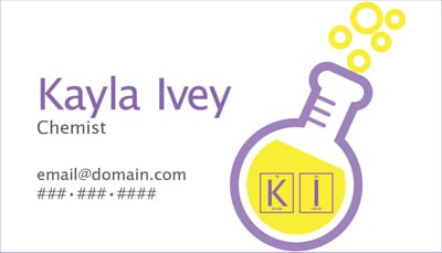 Chemistry Business Card >>> kaylagraphics.com