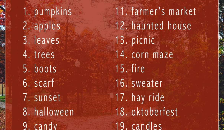 fall autumn photography bucket list