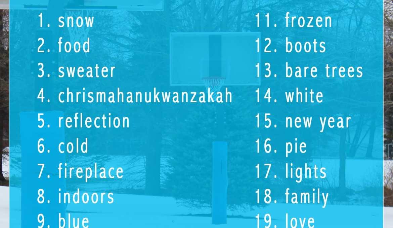 winter photography bucket list