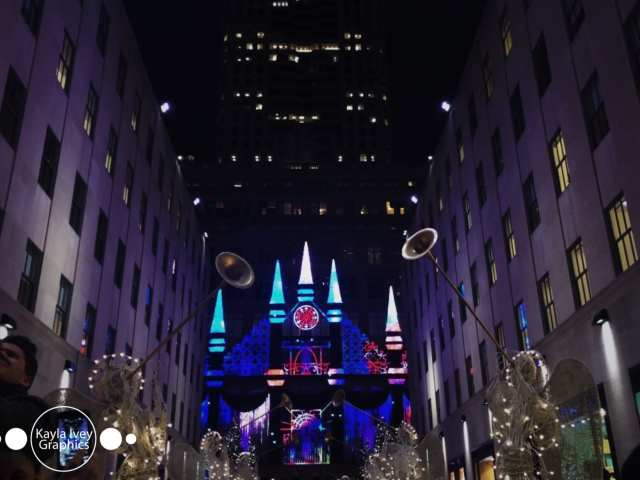 Saks Fifth Avenue Light Show NYC Christmas