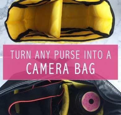 turn any purse into camera bag