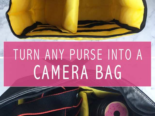 turn any purse into camera bag