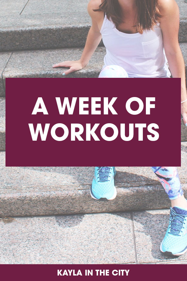 a week of workouts