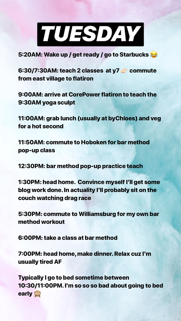 schedule 1 what it looks like to be a full time yoga teacher