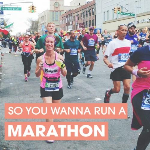 so you wanna run a marathon