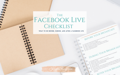 What to do BEFORE, DURING and AFTER a Facebook Live