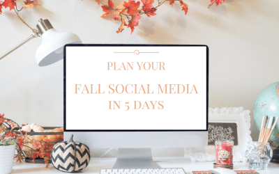 Plan Your Fall Social Media in 5 Days
