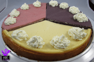 Strawberry, Classic and Blueberry Cheesecake Trio