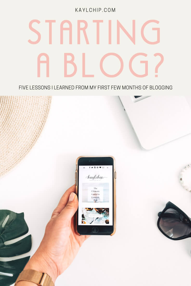 Starting a blog pin with phone