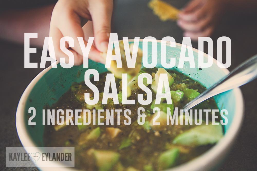 Easy Avocado Salsa Recipe