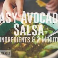 Easy Avocado Salsa Verde | Total Cheater Salsa