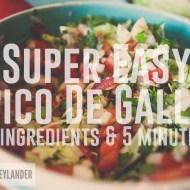 Super Easy  Fresh Pico De Gallo Recipe | 5 Ingredient Quick Salsa