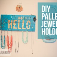 DIY Pallet Jewelry Holder | Make Something Today