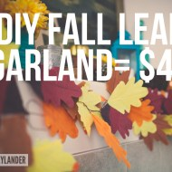 Fall DIY Leaf Garland | Quick and easy