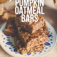 Pumpkin Oatmeal Bars | Gluten Free & Delish!