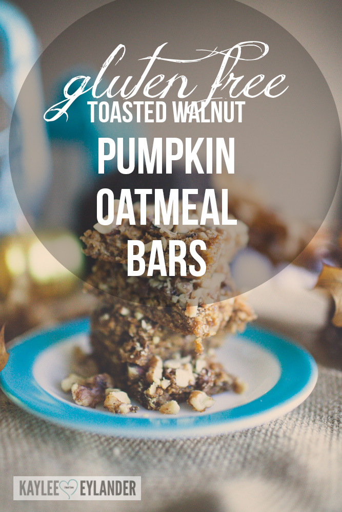 Gluten Free Pumpkin Oatmeal Walnut Bars-1