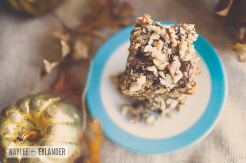 Gluten Free Pumpkin Oatmeal Walnut Bars-3