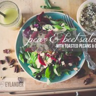 Pear & Beet salad with Toasted Pecans & Goat Cheese